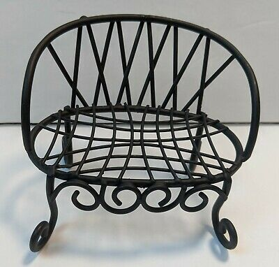 """Fairy Garden Miniature Decor Bird Cage on Stand Copper-color 5.5/"""" Total Height"""