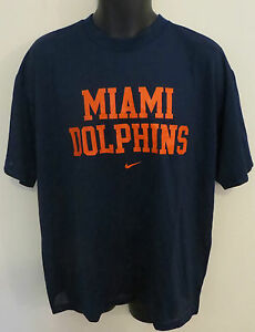Nike Miami Dolphins T-Shirt American Football Mesh Tee NFL Jersey ... 90665bc6f