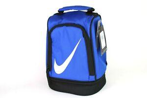 Nike-Lunch-Box-School-Bag-Tote-Insulated-Blue-Black-2-Compartments-9A2546-U89