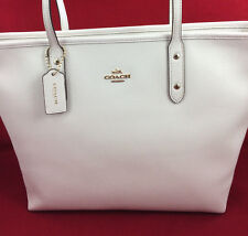 Item 4 New Coach F58846 Crossgain Leather City Zip Tote Handbag Purse Bag Chalk White
