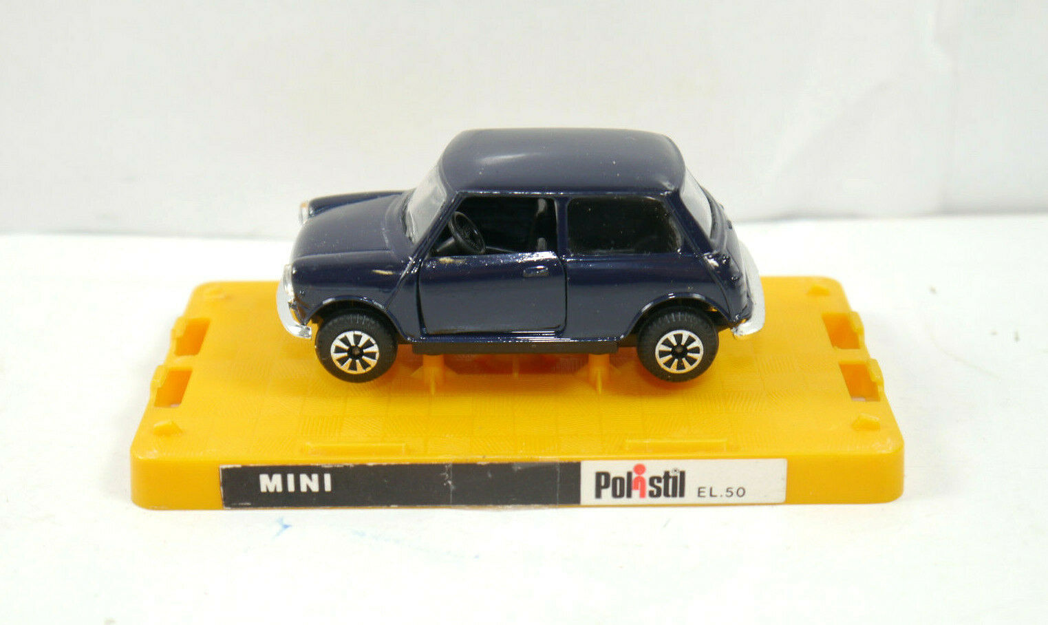Polisil EL.50 Mini Cooper blå Scuro modellllerlerlino bil Made in  1 43 (K37) 35;A