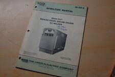 Lincoln Dc Welder Perkins Diesel Engine User Owner Operator Operation Manual