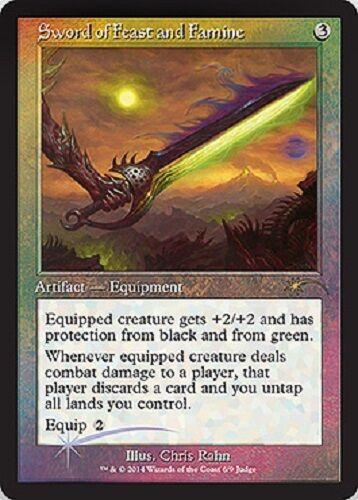 Sword of feast and famine premium//foil-sword of feast and mtg magic nm