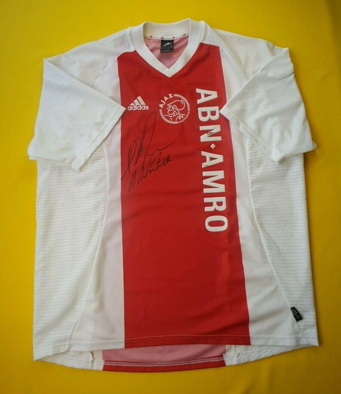 4.4 5 Ajax Amsterdam jersey XL 2003 2003 2003 2004 autograph