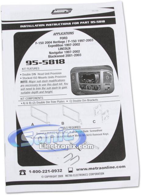 METRA 955818 Radio Installation Kit
