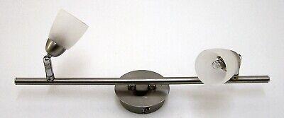 Deckenlampe Paul Neuhaus 2 Flammig Chrom Matt Mit 2 Gläsern Typ 6402-55