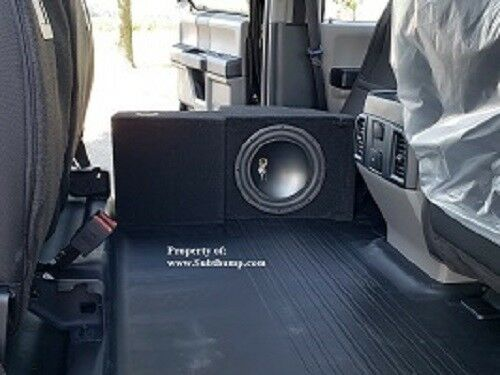 """2015-2018 F150 Supercrew 1x12/"""" Console Downfire Subr Enclosure with Storage Tray"""