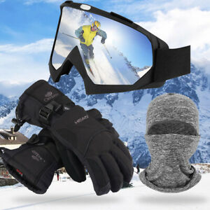 Sport-Goggles-OTG-Anti-Fog-Snowboard-Outdoor-Ski-Adjustable-Strap-For-Adults