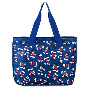 Disney-Mickey-Mouse-Heavy-Duty-Large-Tote-Bag-Zip-Top-amp-Sturdy-Handles-NEW