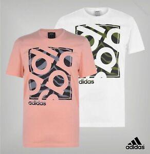 Mens Adidas Short Sleeve Crew Neckline Camo Box T Shirt Sizes from S to XXL
