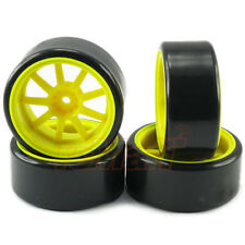 3Racing 1:10 RC Car 9 Spoke Wheel Tyre Set Drift (5mm Offset) On Road #WH-24/FY