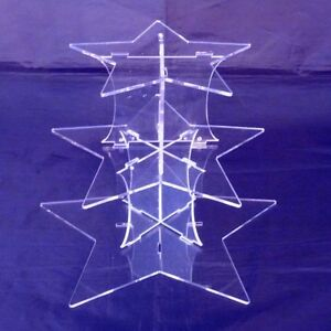 Three-Tier-Clear-Acrylic-Star-Design-Wedding-amp-Party-Cake-Stand-3-tier