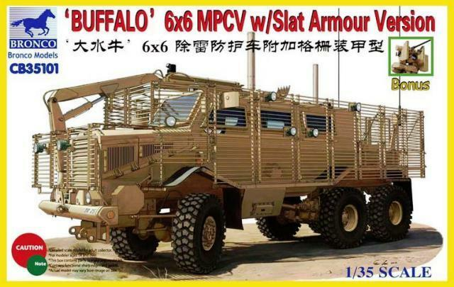 BUFFALO 6X6 MPCV VERSION avec  SLAT ARMOUR   - KIT BRONCO MODELS 1 35 n° 35101