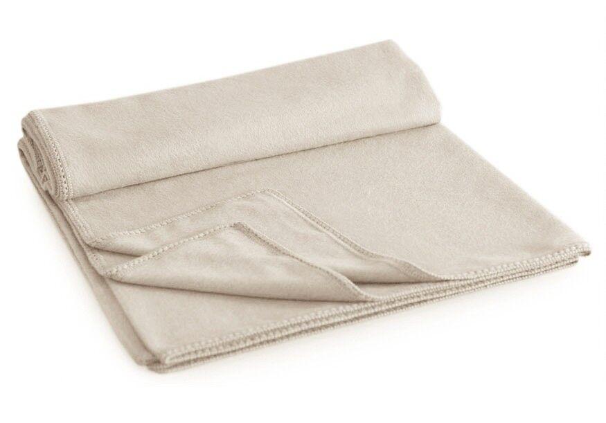 Alpaca QUEEN Blanket 90 X 90 - IVORY WHITE Peru Gorgeous Baby Soft