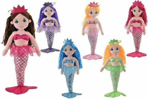 55cm Pink Mermaid Princess Soft Toy Plush Doll PL124-PINK
