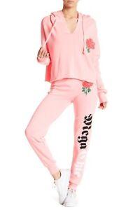 Joggers Sweatpants Chic Pink Medium 439077157483 Størrelse Ny Mega Wildfox Neon StqE5xRAw