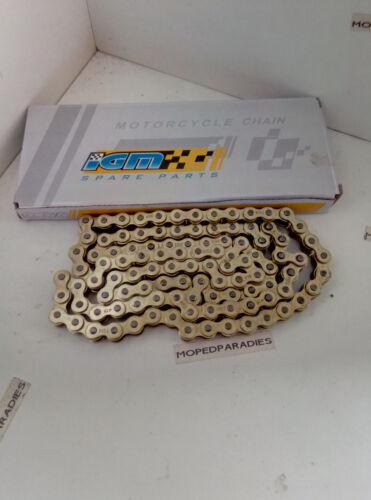 Zündapp GTS 517 529 Mokick stabile IGM Marken Gold Kette 106 Glieder 415er