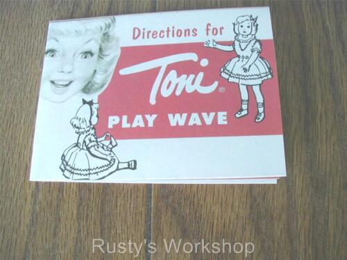 Reproduction 1950/'s TONI doll PLAYWAVE instruction leaflet # 2