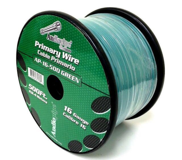Audiopipe 500\' Feet 16 Gauge Green Pet Dog Fence Stranded Wire In ...