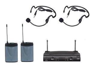 uhf wireless headset microphone system church weddings presentations school play 699998372789 ebay. Black Bedroom Furniture Sets. Home Design Ideas