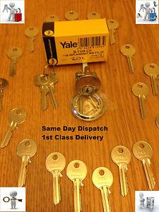 Yale Era Rim Cylinder Brass Polished Chrome Satin Lock