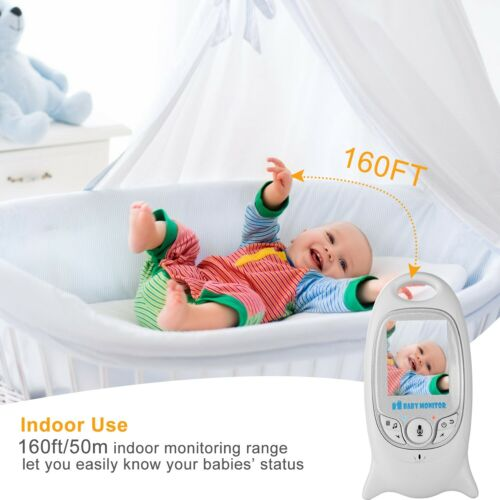 "2/"" Color LCD Baby Monitor Video Audio Camera 2-Way Talk Night Vision Music"