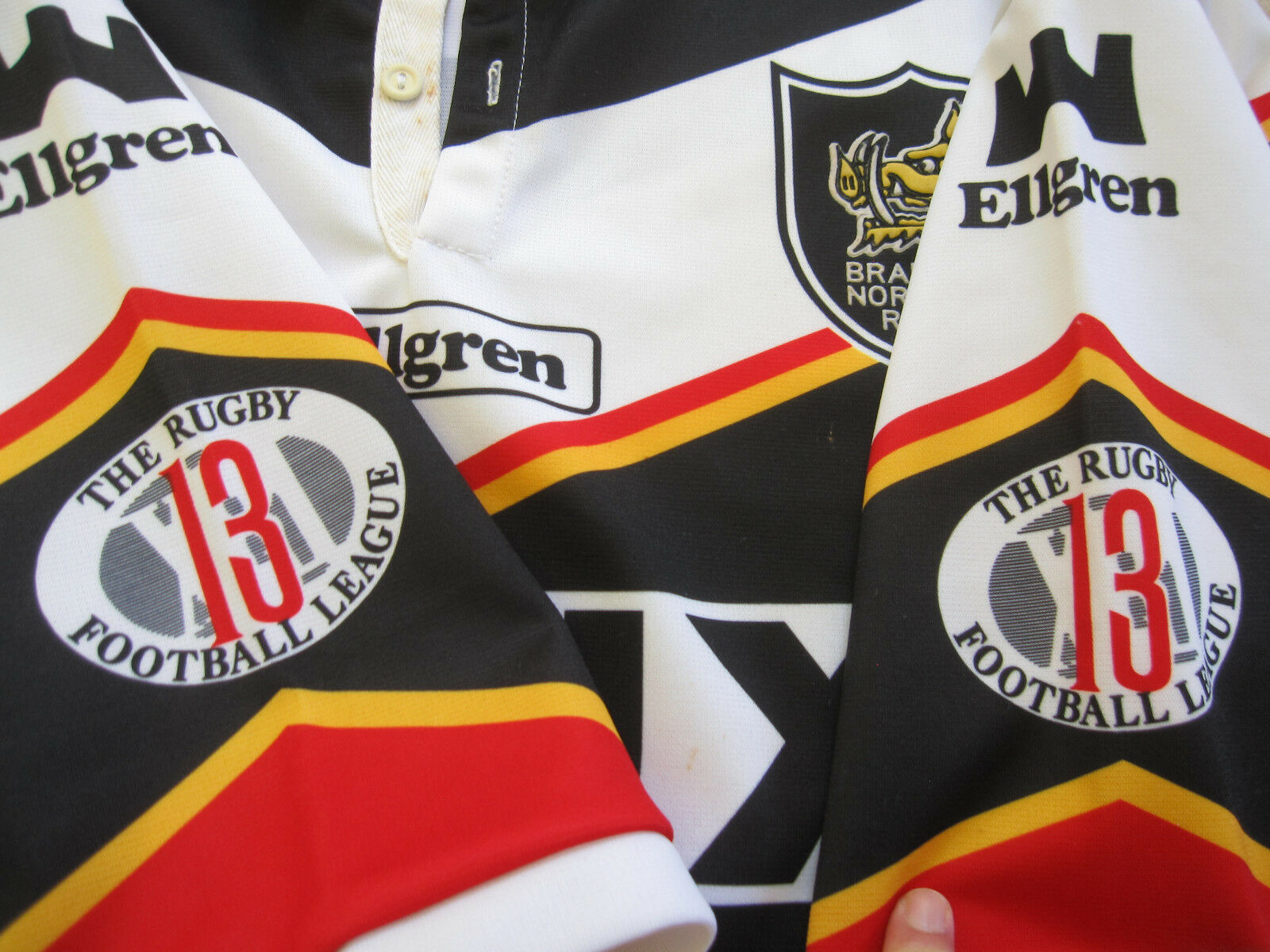 Maillot Rugby Bradford Bradford Bradford 1994 jersey Vaux Home Original Vintage Ellgren - XL 59f98a