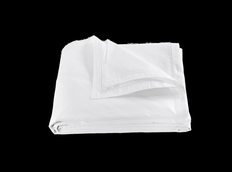 Matouk Ceylon Satin Stitch Full Queen Duvet Cover - Weiß
