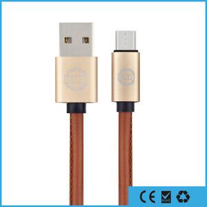 Leder-Micro-USB-Ladekabel-fuer-Original-Samsung-Huawei-LG-Android-Sony-PS4-1m