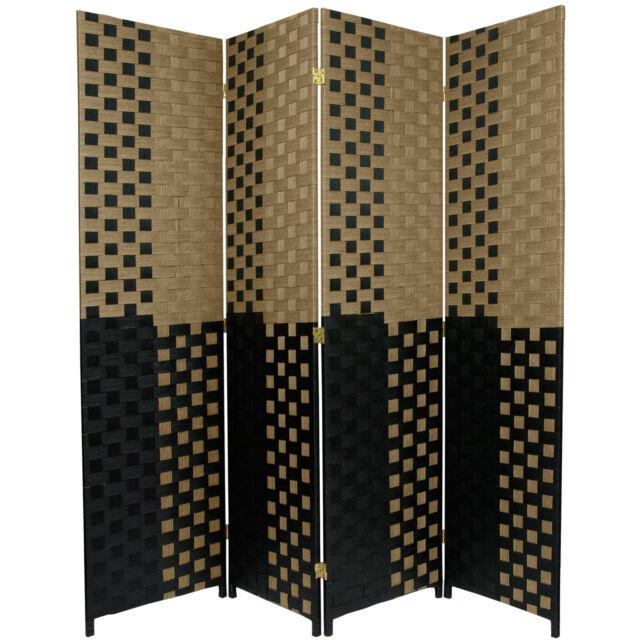 Oriental Furniture 4 ft Tall Woven Fiber Room Divider