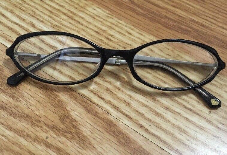 Authentic BEBE Cha Cha RXable Eyeglasses Frames Black Sheer 52▫18 135 EUC!