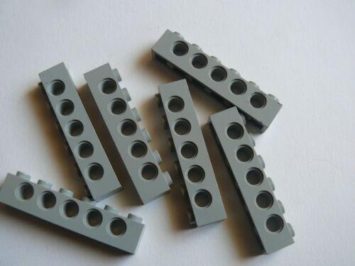 Lego 6 briques tech gris clair 9754 10030 6 old light gray technic brick 1 x 6