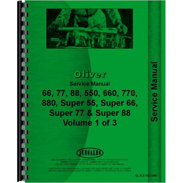 New Oliver 770 Tractor Service Manual For Sale Online