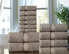 Taupe Spa Quality Long Stapled 100/% Cotton 600 GSM  12PC Bath Towel Set Hotel