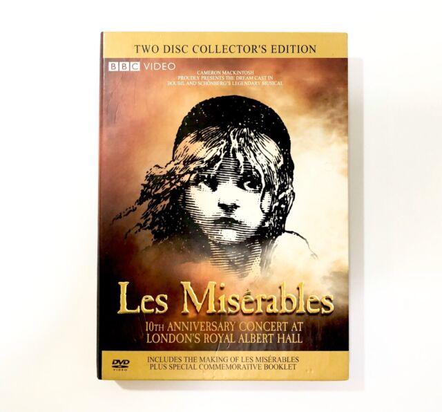 Les Miserables - In Concert (DVD, 2008, 2-Disc Set, Collectors Ed.) Cracked Case