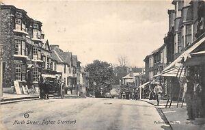 POSTCARD   HERTS    BISHOP  STORTFORD   North   Street     Circa  1905    RP