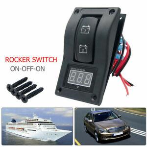Dual-Battery-Test-Panel-Digital-Voltmeter-Battery-Test-ON-OFF-ON-Rocker-Switch