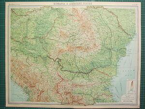 Carte Roumanie Bulgarie.Details Sur 1921 Grande Carte Roumanie Bulgarie Yugo Slavia La Serbie Hongrie Afficher Le Titre D Origine