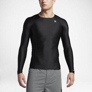 Hurley Pro Compression Long Sleeve Rash Guard - CHOOSE SIZE - White Surf Shirt