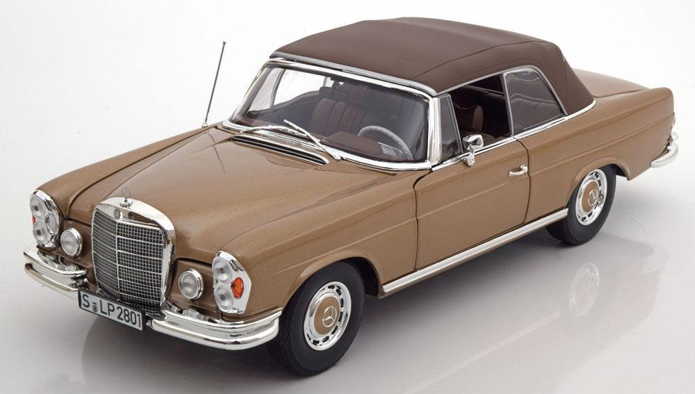 NOREV 1968 Mercedes Benz 280 SE W111 Light Brown Metallic (DEALER) 1 18New