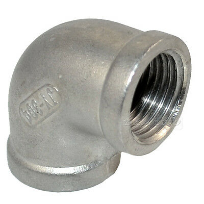"1/2"" F/F Elbow 90 Degree Angled SS 304 Female Threaded Pipe Fitting NPT Quality"