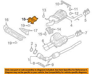 details about vw volkswagen oem 05 14 jetta 2 5l l5 exhaust heat shield 1k5825701b GM High Feature Engine