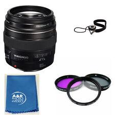 YONGNUO YN100mm 100mm F2 Lens Kit for Canon 80D T6I T6 70D 5D 6D T7I + Filters
