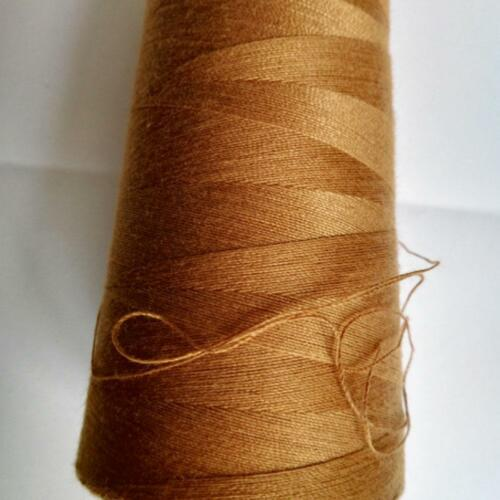 2000m Thick Polyester Thread Upholstry Jeans Denim Button Sew Craft.Gold