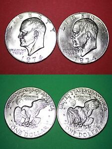 1973 P D Eisenhower Dollars From Mint Sets With 2x2 Cases Combined Shipping
