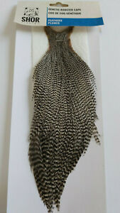 SHOR-GENETIC-ROOSTER-CAPE-2-GRIZZLY-Fly-Tying-Feathers