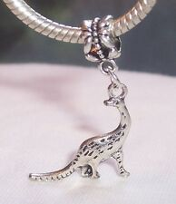 Dinosaur Diplodocus Toy Dangle Bead fits Silver European Style Charm Bracelets