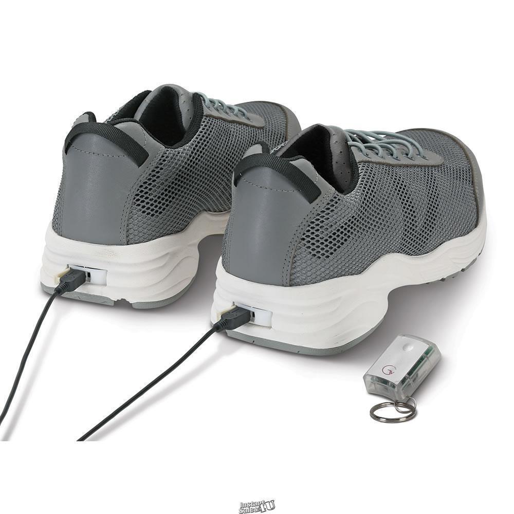 Hammacher Good Vibrations Circulation Enhancing Vibrating shoes Men Size 11 Grey