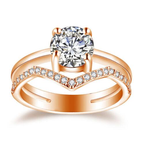 Anillos sortijas 14k argollas de compromiso matrimonio Oro PLATA 925 para mujer