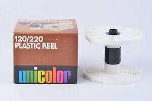 NEW-IN-BOX-UNICOLOR-PLASTIC-REEL-FOR-120-220-FILM-CAT-324-FOR-PATERSON-TANKS
